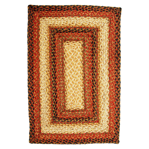 Russet Braided Jute Rectangle Rugs