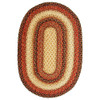 Russet Braided Jute Oval Rugs