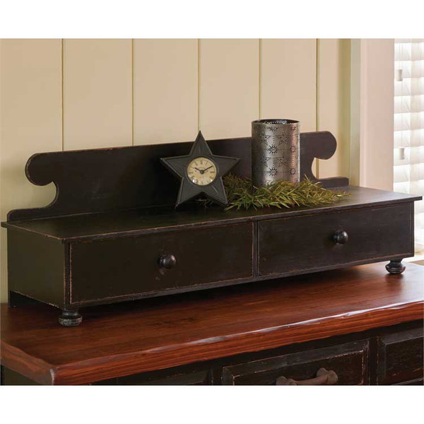 Distressed Counter Shelf in Aged Black