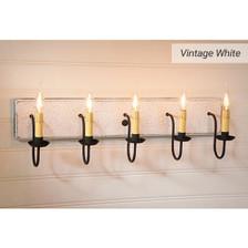 Five-arm Vanity Light in Vintage White