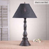 Davenport Lamp in Black over Red