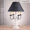 Bradford Lamp in Americana Vintage White