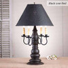 Bradford Lamp in Americana Black over Red