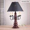 Bradford Lamp in Americana Plantation Red