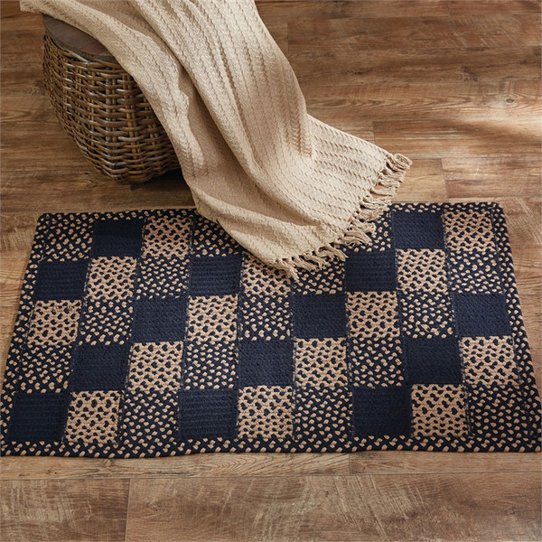 """Square Block Braided Rectangle Rug 27"""" x 45"""""""