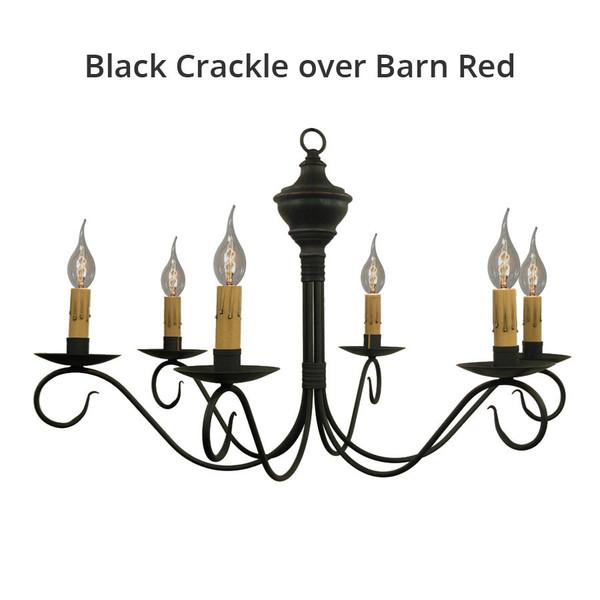 Black Crackle over Barn Red