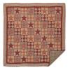 Dawson Star King Quilt Flat