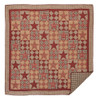 Dawson Star Luxury King Quilt Flat