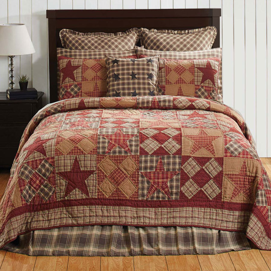 Dawson Star Queen Americana Quilt By Vhc Brands