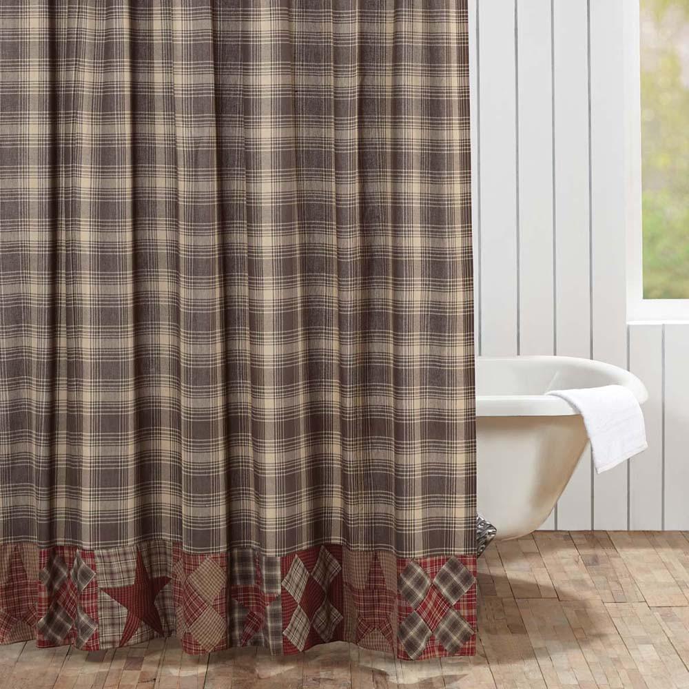 Dawson Star Patchwork Shower Curtain By VHC Brands
