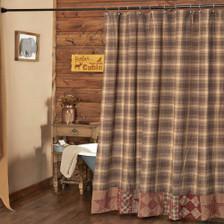 Dawson Star Patchwork Shower Curtain
