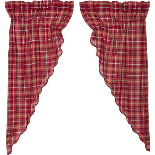 Braxton Scalloped Prairie Curtain Set