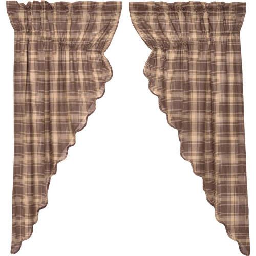 Dawson Star Scalloped Prairie Curtain Set