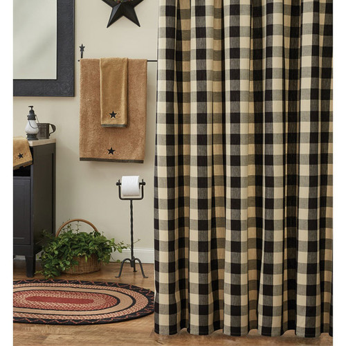 Wicklow Black Shower Curtain