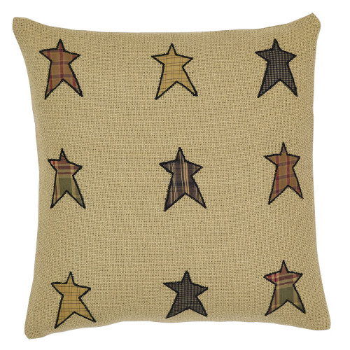 "Stratton Applique Star 16"" Pillow"