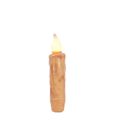 """4"""" Cream Battery Operated Taper Candle with Timer"""