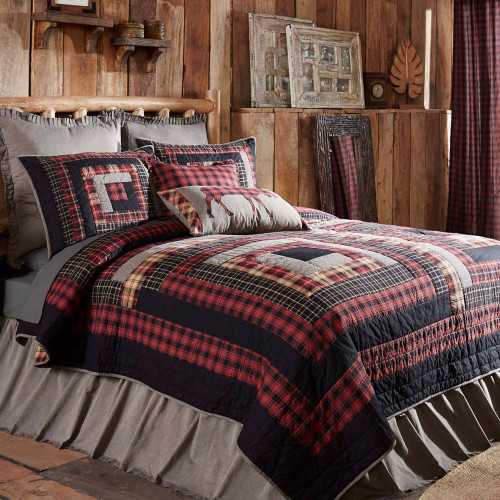 Cumberland Queen Log Cabin Quilt By Vhc Brands