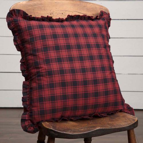 "Cumberland Plaid Fabric Pillow 18"" x 18"""