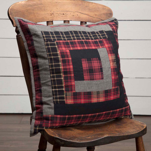 "Cumberland Patchwork Quilted Pillow 18"" x 18"""