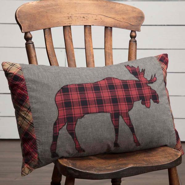 "Cumberland Moose Applique Pillow 14"" x 22"""