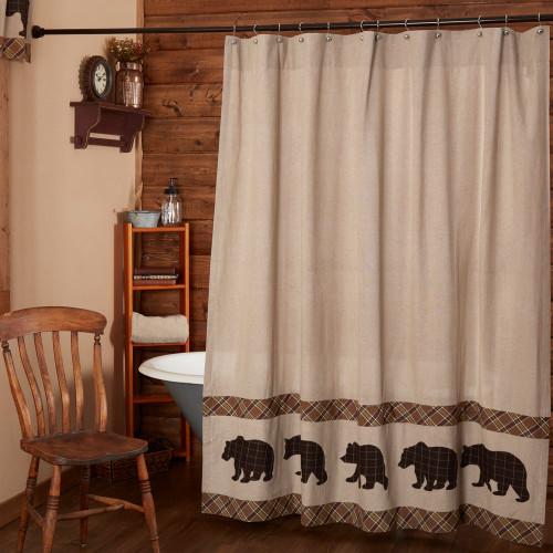 Wyatt Bear Shower Curtain