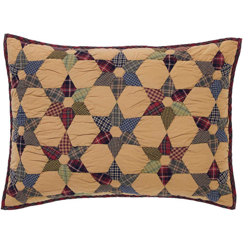 Tea Star Quilted Standard Sham