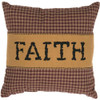 "Heritage Farms Faith Pillow 12"" x 12"" - Front"