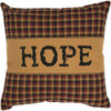 "Heritage Farms Hope Pillow 12"" x 12"" - Front"