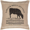 """Sawyer Mill Cow Pillow 18"""" x 18"""" - Front"""