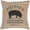 """Sawyer Mill Pig Pillow 18"""" x 18"""" - Front"""