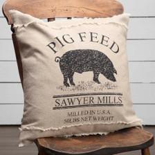 Sawyer Mill Pig Pillow