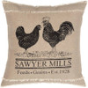 "Sawyer Mill Poultry Pillow 18"" x 18"" - Front"