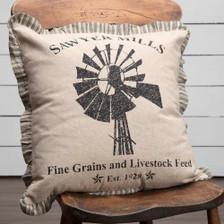 Sawyer Mill Windmill Pillow