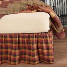 Primitive Check Bed Skirt