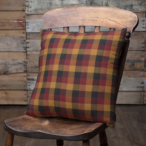 Primitive Check Fabric Pillow