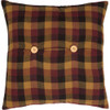 Primitive Check Fabric Pillow 16 x 16 - Reverse