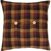 Primitive Check Fabric Pillow 16 x 16 - Reverse
