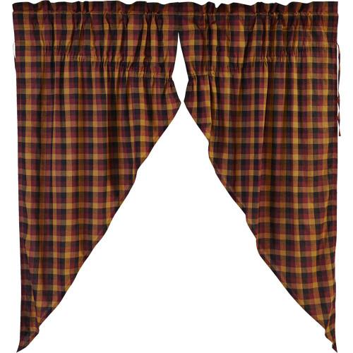 Primitive Check Prairie Curtain Set