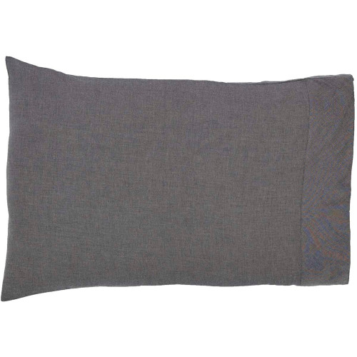 Black Chambray Pillowcase