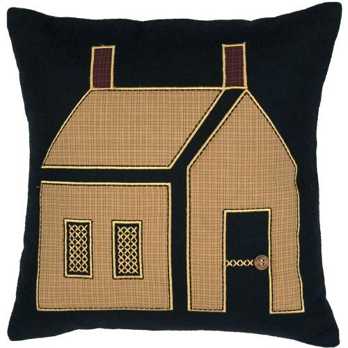 """Primitive House Pillow 18"""" x 18"""" - Front"""