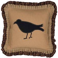 """Primitive Crow Pillow 18"""" x 18"""" - Front"""