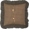 "Maisie Patchwork Fabric Pillow 18"" x 18"" - Reverse"