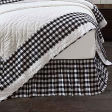 Annie Buffalo Black Check Bed Skirt