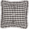 Annie Buffalo Black Check Fabric Euro Sham - Reverse