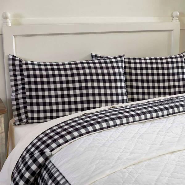 Annie Buffalo Black Check Pillowcase Set