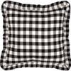 """Annie Buffalo Black Check Fabric Pillow 18"""" x 18"""""""