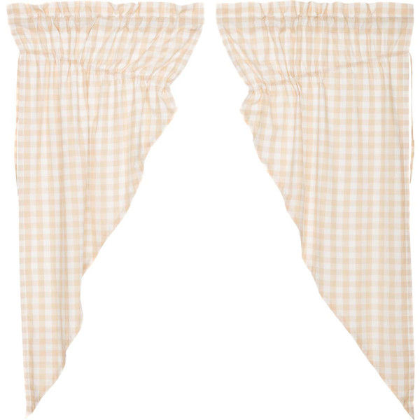 Annie Buffalo Tan Check Prairie Curtain Set