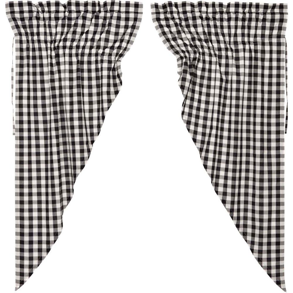 Annie Buffalo Black Check Prairie Curtain Set By Vhc Brands