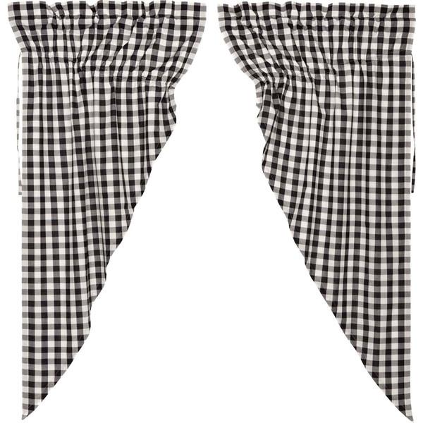 Annie Buffalo Black Check Prairie Curtain Set