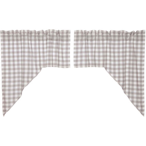Annie Buffalo Grey Check Swag Set